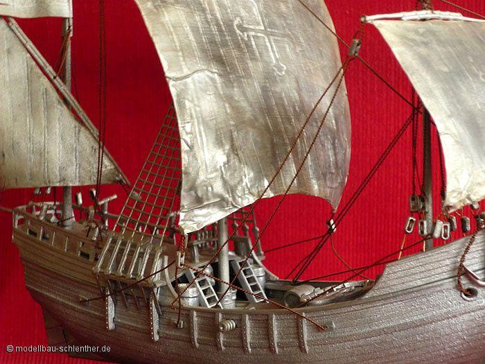 Pinta<br><i>Ma&szlig;stab 1 : 90<br>Bestehend aus ca. 120 Einzelteilen</i><br>Original Plastikmodellbausatz von Revell