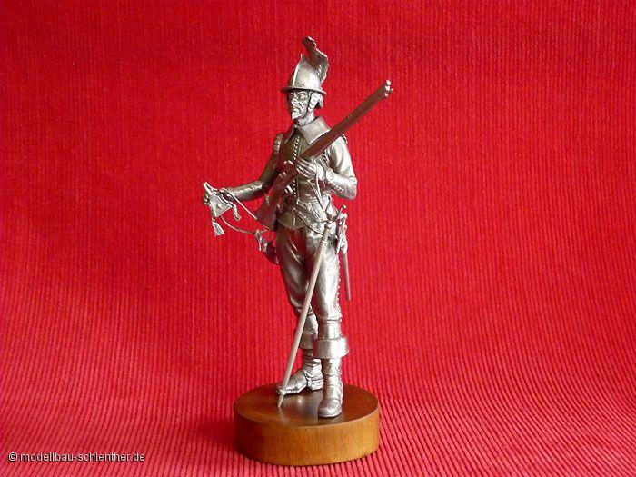 Niederländischer Musketier<br><i>Maßstab: 1 : 16<br>Bestehend aus ca. 60 Einzelteilen</i><br>Original Plastikmodellbausatz von MiniArt