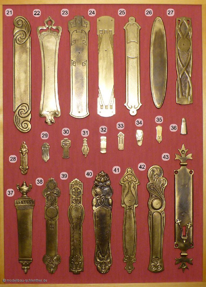 Schlossblenden mit diversen Schlüssellochfallen