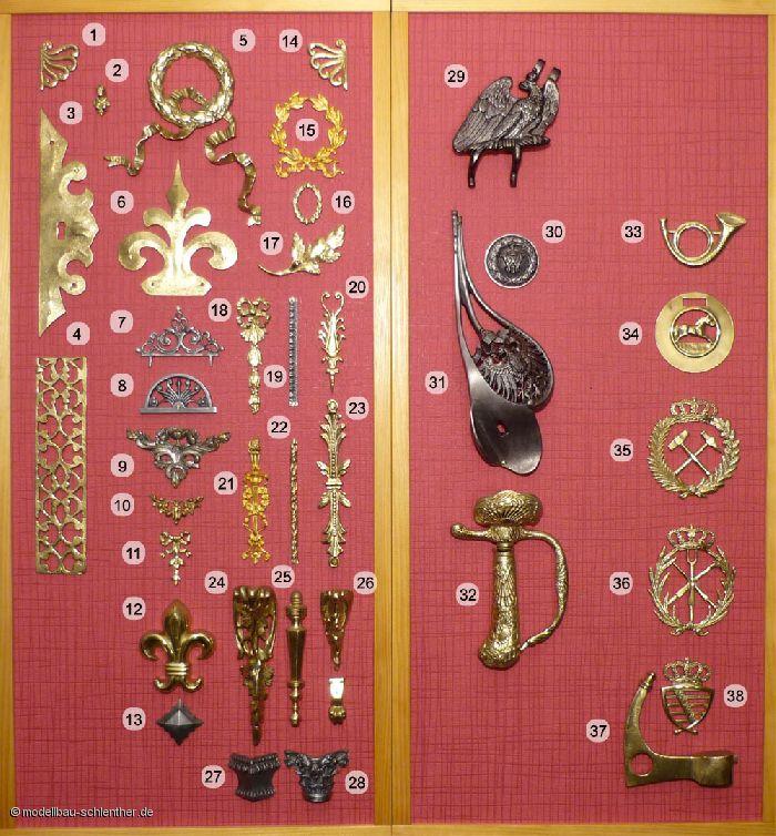 Zierbeschl&auml;ge-Accessoires f�r Uniformtr&auml;ger<br>Nr. 31 Degengef&auml;ss Original von Peter Hartmann, Eisenach